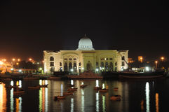 Sharjah Creek at night Stock Photos