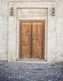 Sharjah Door. Traditional Arabian Door and Lanterns Sharjah UAE Stock Images