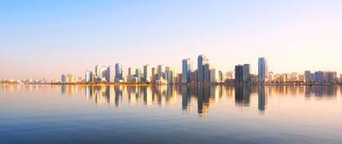 Sharjah embankment. UAE Royalty Free Stock Photography