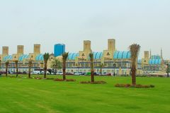 Sharjah, Emirati Arabi Uniti Il Souk centrale, souk diversamente blu dell'oro o di Souk - mercato a Sharjah immagini stock