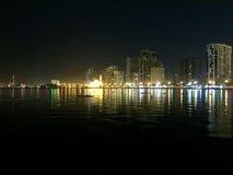 Sharjah at night, United Arab Emirates. Stock Image