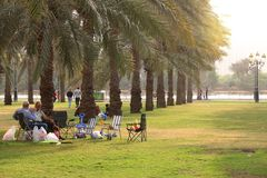 Sharjah park Stock Images
