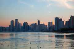 Sharjah Skyline Royalty Free Stock Images