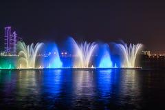 Sharjah springbrunn Arkivfoto
