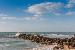 Sharjah strand Arkivbilder