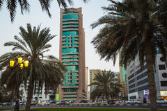 Sharjah - third largest and most populous city in UAE. SHARJAH, UAE - OCTOBER 29, 2013: Sharjah - third largest and most populous city in United Arab Emirates Stock Photo