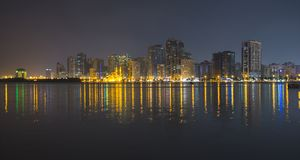 Sharjah - third largest and most populous city in UAE. SHARJAH, UAE - OCTOBER 29, 2013: Sharjah - third largest and most populous city in United Arab Emirates Stock Image