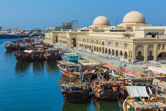 Sharjah - third largest and most populous city in UAE. SHARJAH, UAE - OCTOBER 28: Sharjah - third largest and most populous city in United Arab Emirates, on Stock Images