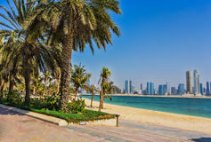 Sharjah - third largest and most populous city in UAE Stock Image