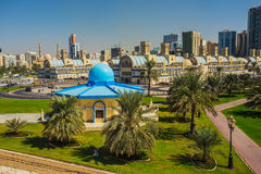 Sharjah - third largest and most populous city in UAE Royalty Free Stock Images