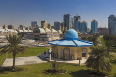 Sharjah - third largest and most populous city in UAE. SHARJAH, UAE - OCTOBER 28: Sharjah - third largest and most populous city in United Arab Emirates, on Royalty Free Stock Photography