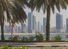 Sharjah - third largest and most populous city in UAE. SHARJAH, UAE - OCTOBER 31: Sharjah - third largest and most populous city in United Arab Emirates, on Royalty Free Stock Photos