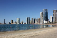 Sharjah town by the sea Royalty Free Stock Image