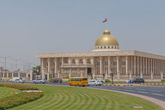 SHARJAH, UAE - MAY 16, 2016: building of government stock image