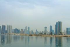 Sharjah, United Arab Emirates: Al Khan Lagoon. SHARJAH, UNITED ARAB EMIRATES - March 25, 2017: Al Khan Lagoon stock photos