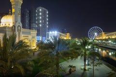 Sharjah, Verenigde Arabische Emiraten, promenade stock afbeelding