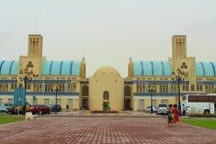 Sharjah, Zjednoczone Emiraty Arabskie Środkowy Souk, inaczej Błękitny Souk lub Złocisty souk, - wprowadzać na rynek w Sharjah fotografia royalty free