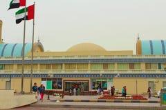 Sharjah, Zjednoczone Emiraty Arabskie Środkowy Souk, inaczej Błękitny Souk lub Złocisty souk, - wprowadzać na rynek w Sharjah zdjęcia stock