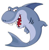 Shark. An illustration of funny blue shark Royalty Free Stock Photo