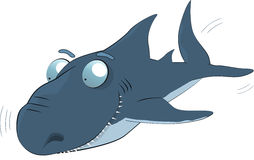 Shark. Animals fish humor hungry Royalty Free Stock Photos