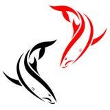 Shark. Vector illustration of shark banner On white background Stock Image