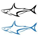 Shark. Vector illustration of shark banner On white background Royalty Free Stock Image