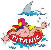 Shark. Vector clip-art / children's illustration for your design Royalty Free Stock Photo