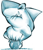 Shark. In the aquarium royalty free illustration