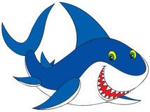 Shark. Vector clip-art / animal character for your design Stock Photo