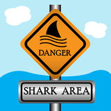 Shark area sign Royalty Free Stock Image