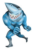 Shark as a super villain Stock Images