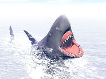 Shark attack - 3D render Stock Photo
