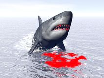 Shark attack - 3D render Stock Images