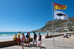 Shark attack Fish Hoek Stock Image