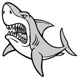 Shark Attack Illustration Royalty Free Stock Images