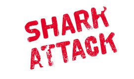 Shark Attack rubber stamp. Grunge design with dust scratches. Effects can be easily removed for a clean, crisp look. Color is easily changed Stock Images