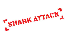 Shark Attack rubber stamp. Grunge design with dust scratches. Effects can be easily removed for a clean, crisp look. Color is easily changed Royalty Free Stock Images