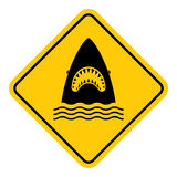 Shark attack warning. Stock Images
