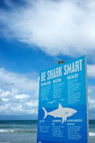 Shark awareness Sign Royalty Free Stock Photo