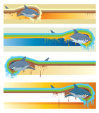 Shark banners Royalty Free Stock Photography