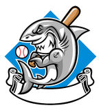 Shark baseball mascot Stock Photo