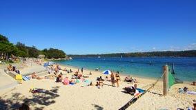 Shark Beach, Nielsen Park, Vaucluse, Sydney, Australia. Yellow sand Sydney Harbour Shark Beach, at Nielsen Park, Vaucluse, Sydney, NSW, Australia. Shark Beach is royalty free stock images
