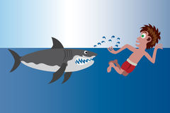 Shark Beach royalty free illustration