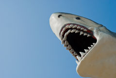 Shark bite sculpture Royalty Free Stock Photography