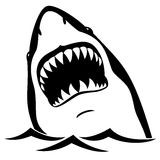 Shark. Black shark isolated on white background Royalty Free Stock Image