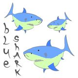 Shark blue  poster. Illustration Royalty Free Stock Image