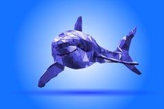 Shark body geometric modern illustration royalty free stock photography