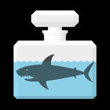Shark in a bottle Royalty Free Stock Image