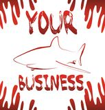 Shark business. Red shark is your business Royalty Free Stock Images