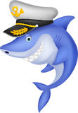 Shark captain cartoon Royalty Free Stock Photography